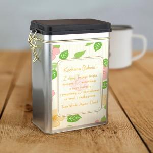 puszka ba kawę z nadrukiem na prezent na dzień babci