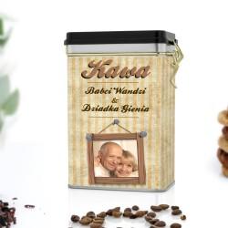 puszka na kawę dla babci i dziadka