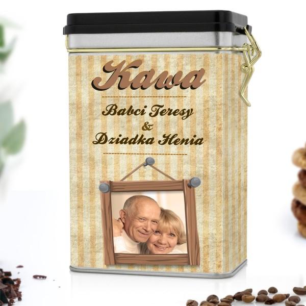 puszka na kawę personalizowana dla dziadków