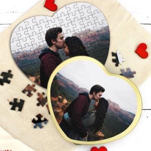 puzzle ze zdjęciem na walentynki