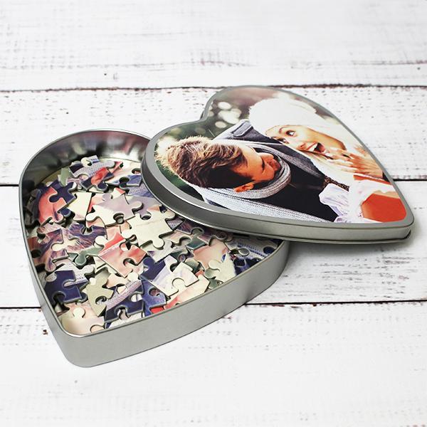 Puzzle Serce Z Waszym Zdjęciem Prezent Na Walentynki Dla Niego