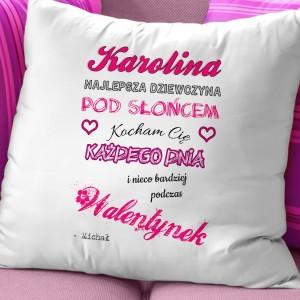 poduszka dla dziewczynki na dzień zakochanych