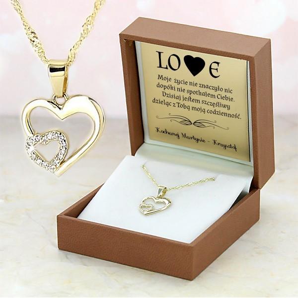 złoty naszyjnik na prezent dla niej