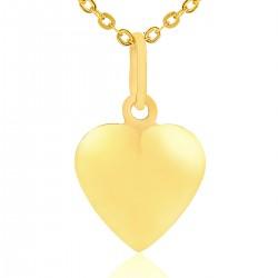 złota zawieszka serce na łańcuszku dla ukochanej