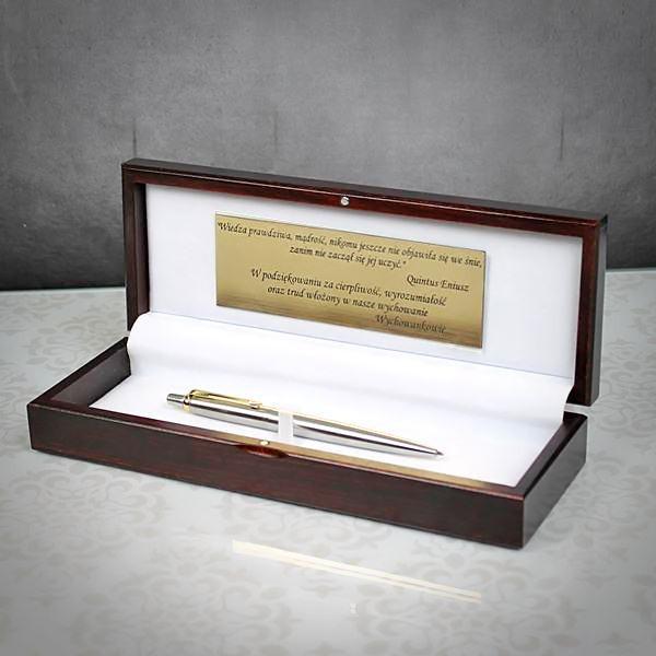 długopis parker jotter GT w drewnianym etui