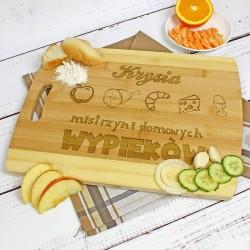 deska kuchenna z napisem