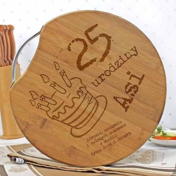 Deska bambusowa na urodziny z grawerem