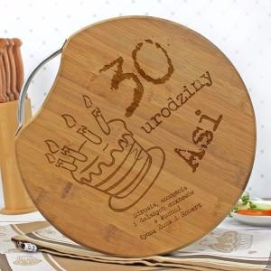 Bambusowa deska do krojenia z grawerem na urodziny