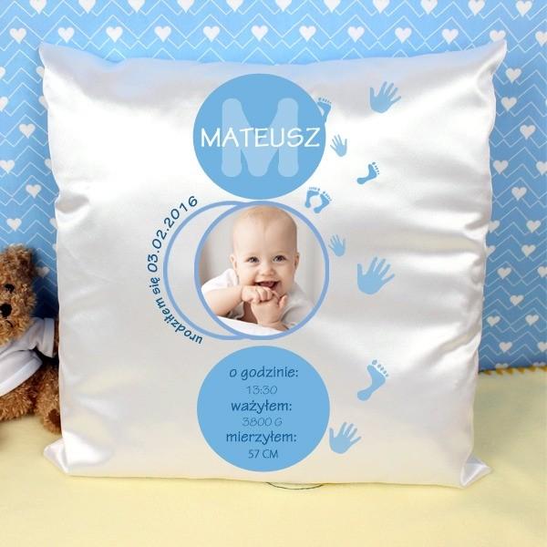 poduszka ze zdjęciem dziecka