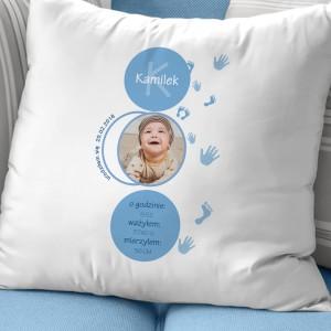 poduszka z imieniem dziecka na prezent na chrzest