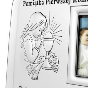 ramka ze zdjęciem na prezent na komunię