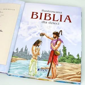 biblia z ilustracjami na prezent