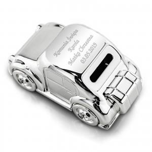 skarbonka ze srebra z dedykacją na prezent komunijny