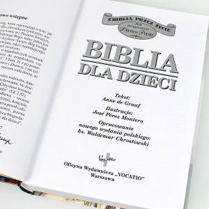 grawerowana biblia na komunię