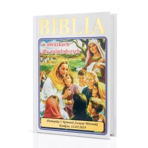 biblia na komunię z dedykacją