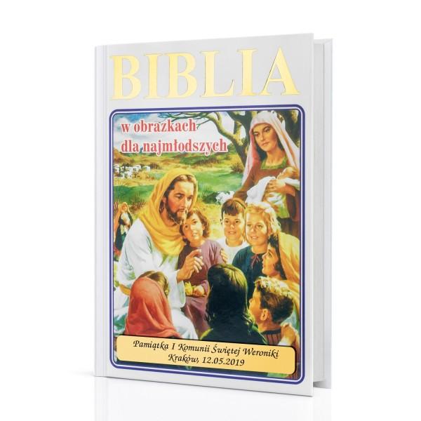 biblia dla najmłodszych z grawerem