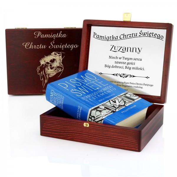 spersonalizowane pismo w pudełku na chrzest