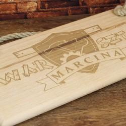 tabliczka z drewna do warsztatu z grawerem