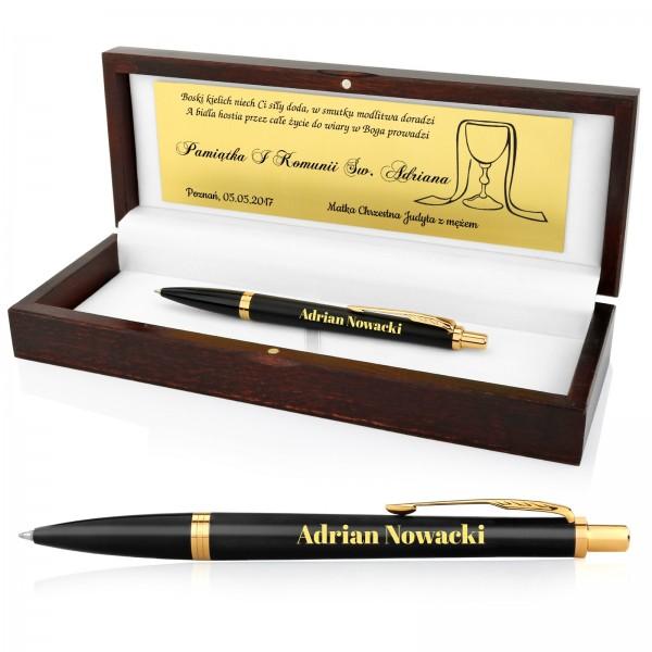 pamiątka komunijna dla chłopca długopis parker w etui