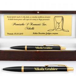 długopis parker z grawerem na pamiątkę pierwszej komunii świętej