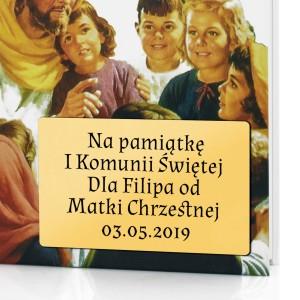 pamiątka komunii świętej biblia z dedykacją