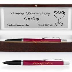 personalizacja na eleganckim etui i długopisie parker fashion