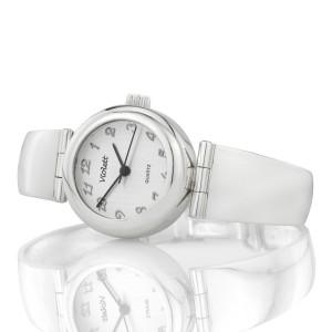 srebrny zegarek na komunię