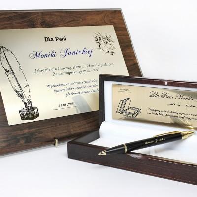 Długopis Parker w etui z grawerem i dyplom z personalizacją  na prezent dla nauczyciela