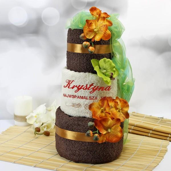personalizowany tort z ręczników