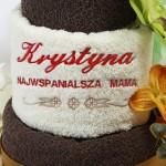 haftowana dedykacja na ręczniku