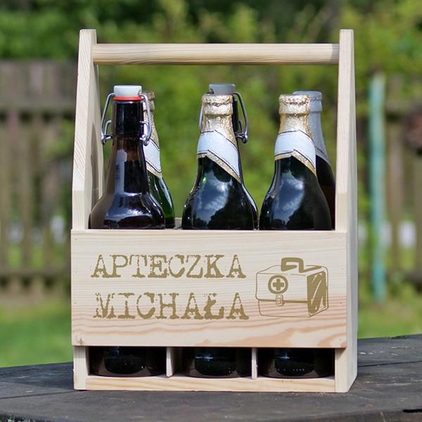 skrzynka na piwa z grawerem