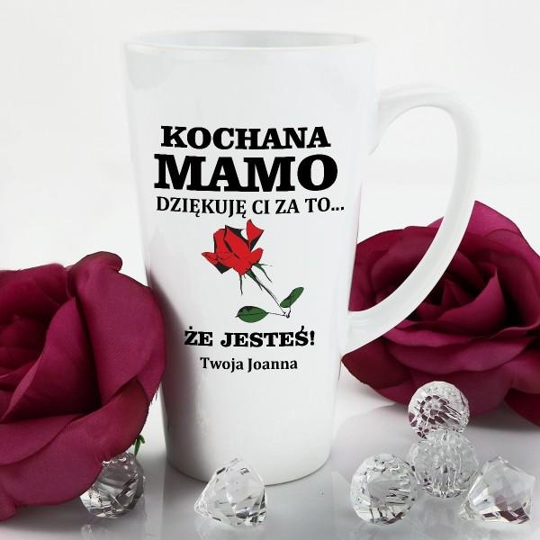kubek latte z nadrukiem imienia na prezent dla mamy