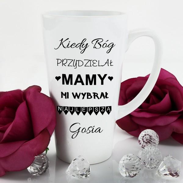 kubek latte z nadrukiem na prezent dla mamy