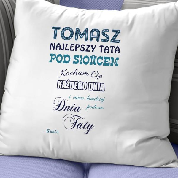 poduszka z personalizacją na prezent dla taty