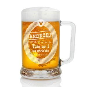 kufel na piwo z grawerem imienia