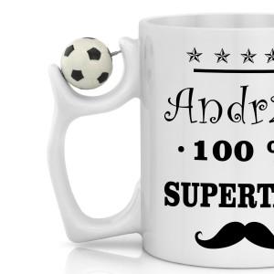 kubek dla taty fana piłki nożnej