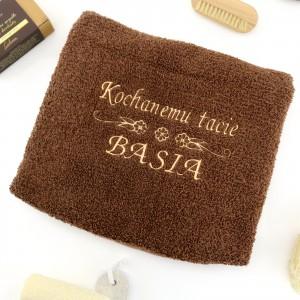 prezent na dzień ojca ręcznik z haftem dedykacji