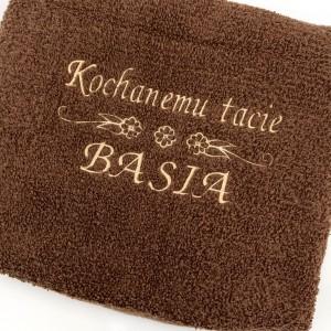 ręcznik z haftem imienia na prezent dla taty