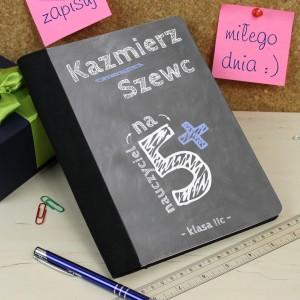 notatnik z nadrukiem na prezent dla wychowawcy