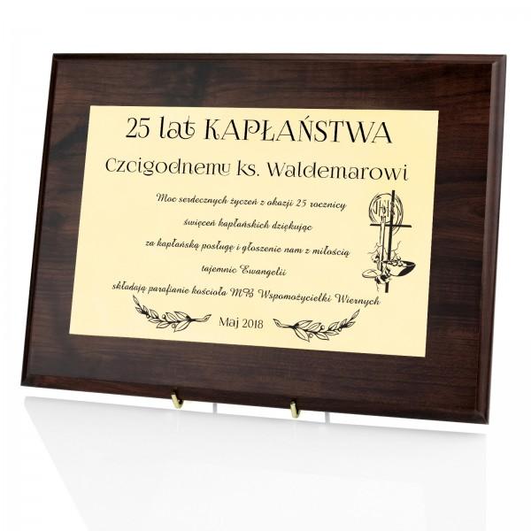 prezent na jubileusz święceń kapłańskich certyfikat z nadrukiem
