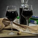 karafka na wino z grawerem