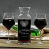 personalizowana karafka na wino z kieliszkami