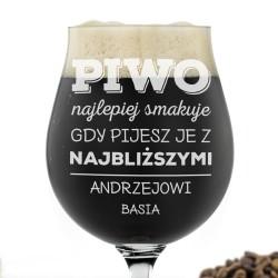 szklaneczka do piwa z grawerem