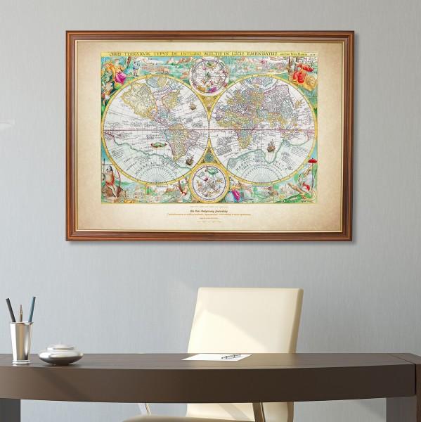 mapa świata z dedykacją dla nauczyciela