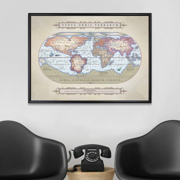mapa świata 1572