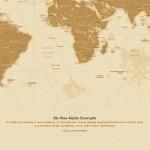 mapa świat z dedykacją dla nauczyciela