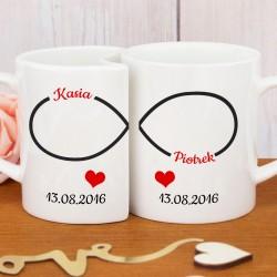 pomysł na prezent na rocznicę ślubu kubki z nadrukiem