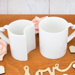 białe kubki na prezent dla pary
