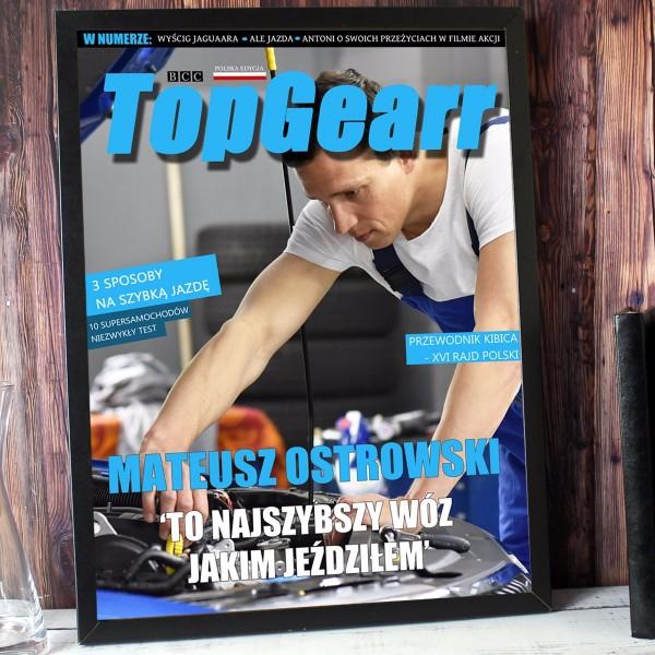 okładka magazynu ze zdjęciem dla faceta
