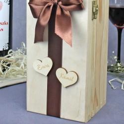 personalizowana skrzynka na wino dla nowożeńców